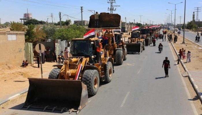 وفد مصري يصل إلى غزة لبحث إعادة الإعمار