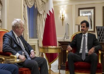 أمير قطر يبحث مع جونسون التعاون الثنائي والقضايا الدولية