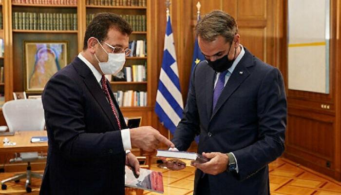 رئيس الوزراء اليوناني يستقبل رئيس بلدية إسطنبول المعارض لأردوغان