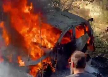 نجاة القطري ناصر العطية بعد احتراق سيارته في رالي قبرص (فيديو)
