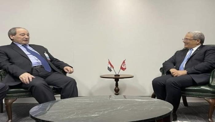الأول منذ 2012.. اجتماع لوزيري خارجية تونس وسوريا