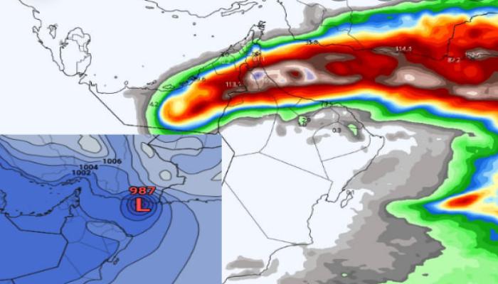 تحذير.. عاصفة مدارية عنيفة قد تضرب عمان والإمارات والسعودية خلال أيام