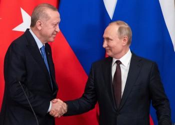 أردوغان يبحث مع بوتين العلاقات الثنائية وقضايا إقليمية