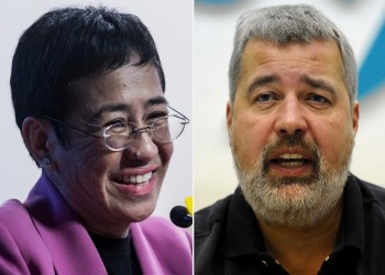 بايدن يهنىء الصحفيين الفائزين بجائزة نوبل للسلام