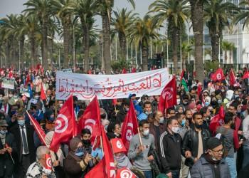 أنصار العمال التونسي يخرجون في مسيرة ضد تفرد قيس سعيد بالحكم