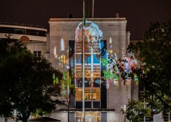 صورة خاشقجي تزين جدران مبنى سفارة السعودية في واشنطن