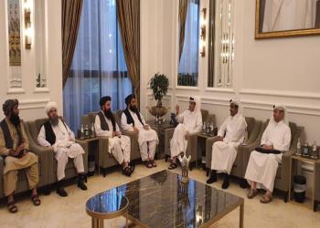 وزير الخارجية القطري يلتقي وفدا من حكومة طالبان