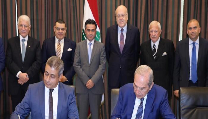 بحضور ميقاتي.. لبنان يوقع اتفاقا مع المقاولون العرب المصرية لتطوير مرفأ طرابلس