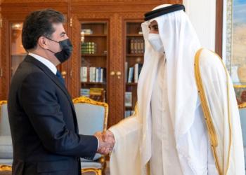 أمير قطر يلتقي رئيس إقليم كردستان العراق لبحث التعاون