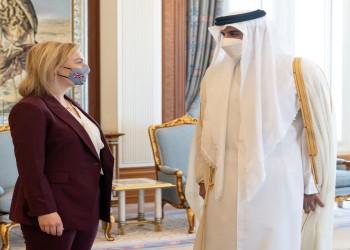 قادمة من السعودية.. أمير قطر يلتقي وزيرة الخارجية البريطانية